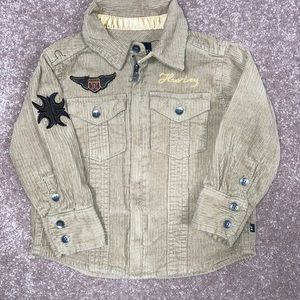 Hurley 18 month cordoroy shirt jacket